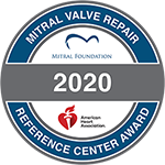 MF-AHA Mitral Valve Repair Reference Center Award seal